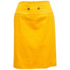 Celine Yellow Denim Pencil Skirt