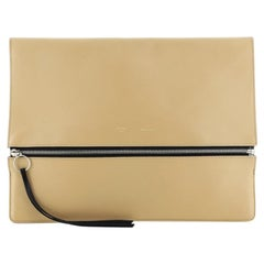 Celine Zip Clutch Leather Oversized