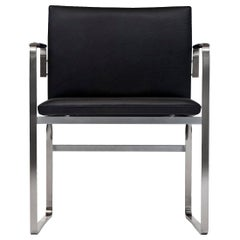 CH111 Chair in Stainless Steel With Foam Seat by Hans J. Wegner