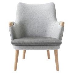 CH71 Lounge Chair in Oak White Oil with Upholstered Frame by Hans J. Wegner