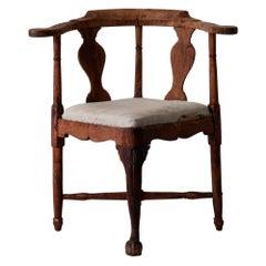 Chair Corner Swedish Rococo 1775-1750 Original Sweden