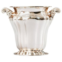 Champagne Bucket, Sterling Silver Embossed Champagne Bucket, Made in Italy