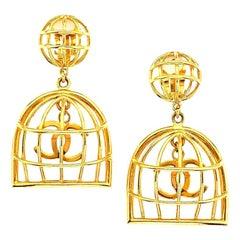 Chanel Birdcage Earrings