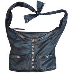 Chanel Black Lambskin Large Blazer Girl Bag