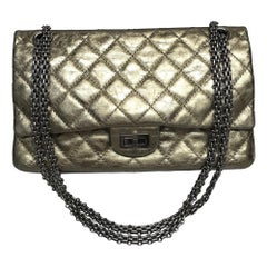 Chanel bronze metallic Re-issue 226 handbag