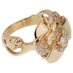 Chanel Camellia Yellow Gold Diamond Ring