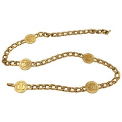 Chanel chain belt in gold metal double « C »