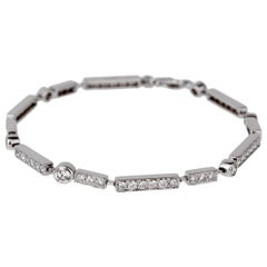 Chanel Diamond Tennis White Gold Bracelet