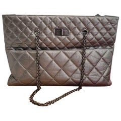 CHanel Gilded Grey Tote Bag