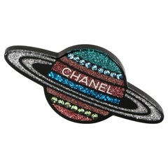 Chanel Glitter Saturn Pin