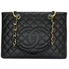 CHANEL Grand Shopping Tote (GST) Bag Black Caviar with Gold Hardware 2011