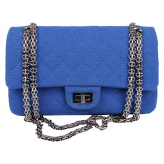 Chanel Jersey Quilted Reissue Bag - blue