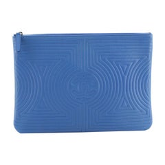 Chanel Korean Garden O Case Clutch Quilted Lambskin Medium