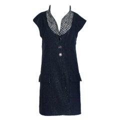 Chanel Lesage Metallic Tweed Long Gilet Vest Jacket Dress Coat