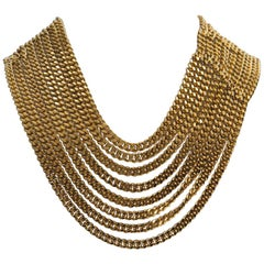 Chanel Multiple Layer Gold Chain Necklace
