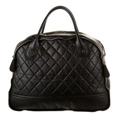 Chanel NEW Black Nylon Cocoon Men's Women's Weekender Travel Top Handle Tote Bag
