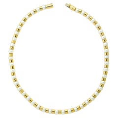 Chanel Pearl Bead Yellow Gold Necklace