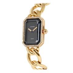 Chanel Première, 18 Karat Gold Solid Ladies Wristwatch with Diamonds