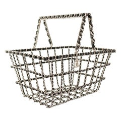 Chanel Rare Collector's Runway Supermarket Grocery Basket Chain Tote Minaudière