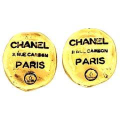 Chanel Rue Cambon Clip-On Earrings
