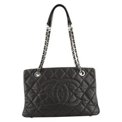 Chanel Timeless CC Shopping Tote Quilted Caviar Medium