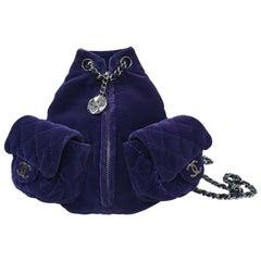 CHANEL Velvet Mini Backpack