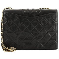 Chanel Vintage CC Full Flap Bag Quilted Lambskin Medium