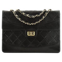 Chanel Vintage Mademoiselle Flap Bag Quilted Lambskin Medium