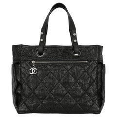 Chanel Women's Handbag Black Leather