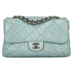 Chanel Women's Shoulder Bag Timeless Blue Leather