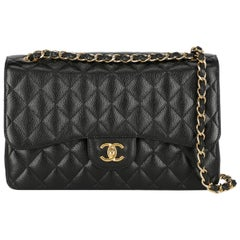 Chanel Women's Timeless Black Leather