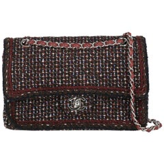 Chanel Women's Timeless Burgundy/Multicolor Fabric