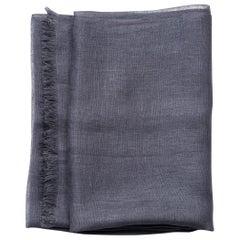 CHARCOAL ( Dark Grey ) Light Weight  Linen Throw