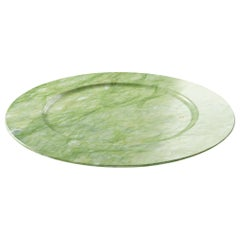 Charger Plate in Green Ming Marble Contemporary Design by Pieruga Marble, Italy
