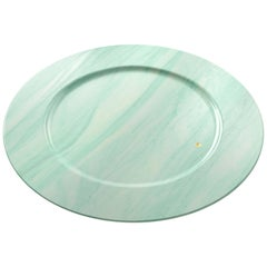 Charger Plate in Green Quartzite Contemporary Design by Pieruga Marble, Italy