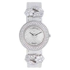 Chatila Ladies White Gold Diamond Pave Arc-en-Ciel Wristwatch