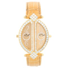 "Chatila ""The Royal Diamond Double Lady"" Dual Time Ladies 18 Karat Gold Watch BA"