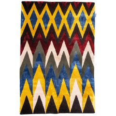 Chevron Handtufted Wool Rug
