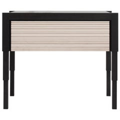 Chicago Side Case Table in Blackened Walnut & Whitewash Maple by May Furniture