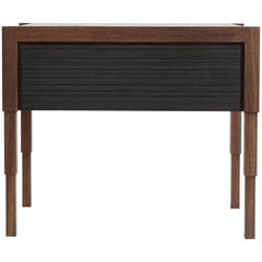 Chicago Side Case Table in Oiled Walnut & Blackened Walnut by May Furniture