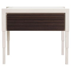 Chicago Side Case Table in Whitewash Maple & Oiled Walnut by May Furniture