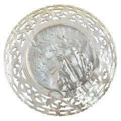 China Trade Period Reticulated and Pierced Mother of Pearl Dish