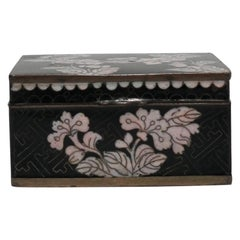 Chinese Black and White Cloisonné Box