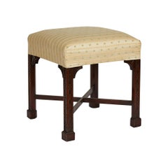Chinese Chippendale Style Mahogany Stool