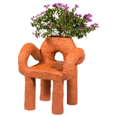 "Chris Wolston Terracotta Plant Chair ""Zipolite"""