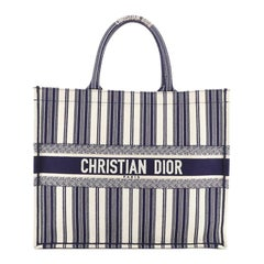 Christian Dior Book Tote Embroidered Canvas