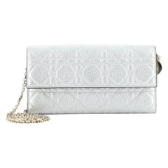 Christian Dior Lady Dior Croisiere Chain Wallet Grained Calfskin