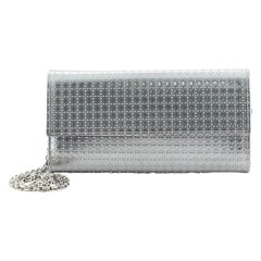 Christian Dior Lady Dior Croisiere Chain Wallet Micro Cannage Perforated