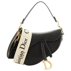 Christian Dior Saddle Handbag Leather Medium