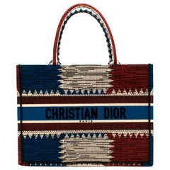 Christian Dior Small Canvas Book Tote In Multicolour